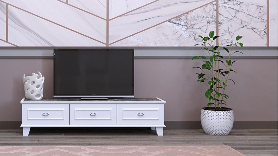 Luna ağ TV altı ağ rəng 0