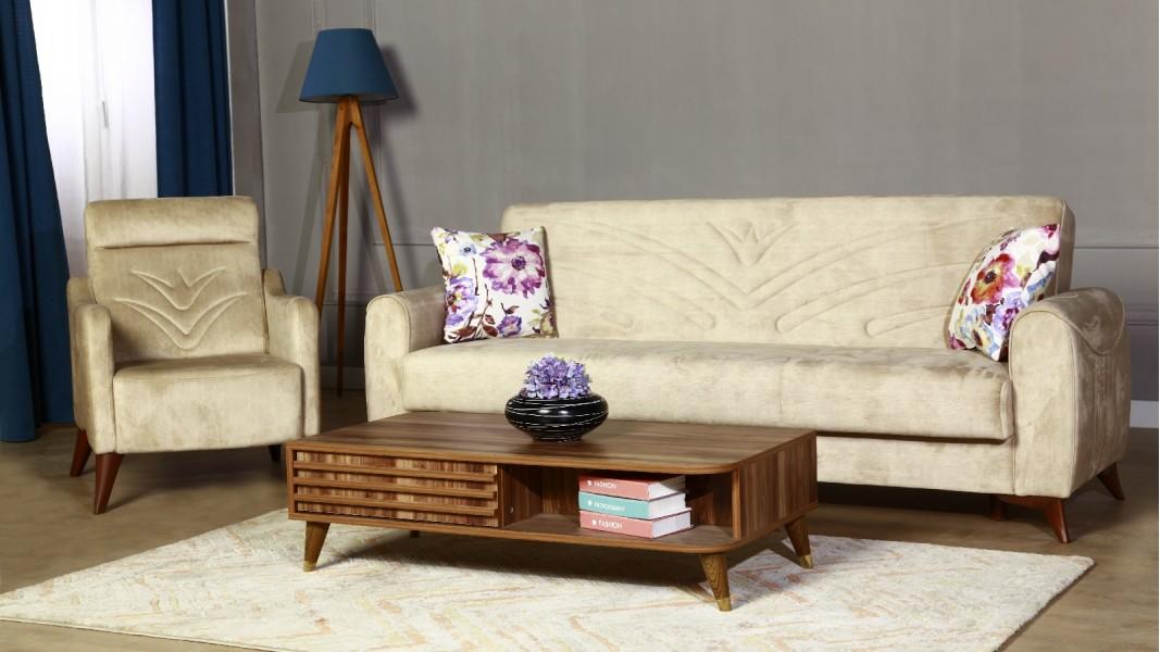 Modern divan dəsti sarı rəng 1